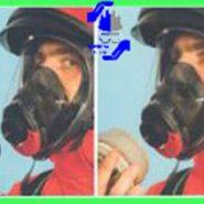 ماسک تمام صورت TR2002/BN جنس EPDM